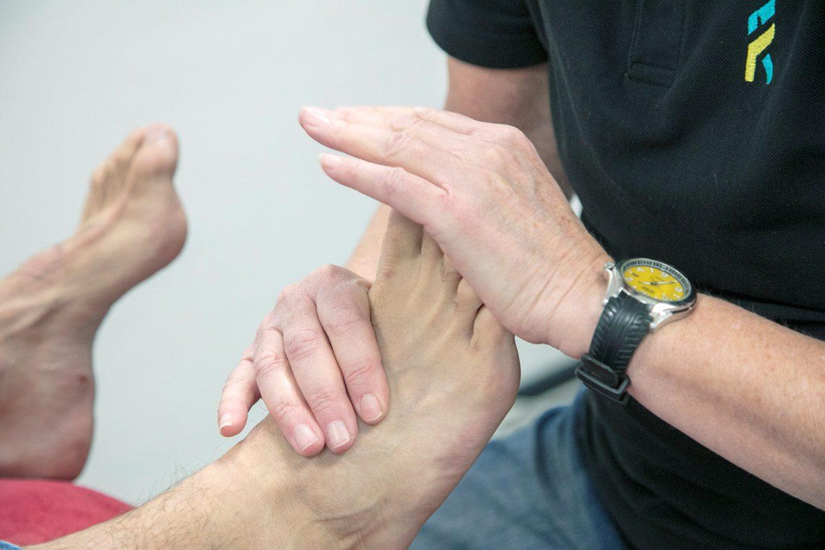 Voet fysiotherapie